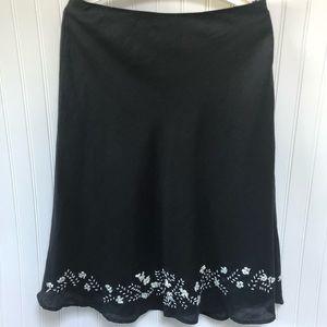 SilkLand Skirt With Low Hem Beading